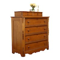 Victorian Antique Farmhouse Chestnut Dresser or Chest, Jewelry Drawers #37494