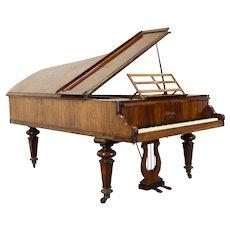 Victorian Antique 1860's Rosewood 7' Grand Piano Kirkman London #37744