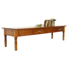Victorian Country School Pine Antique Farmhouse 7' Coffee Table #37783