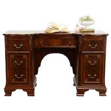 Traditional Walnut & Burl Vintage Vanity or Small Desk #37923
