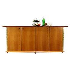 Modern Italian Sideboard, Credenza, Buffet, Walnut & Elm Burl, Miniform #37940