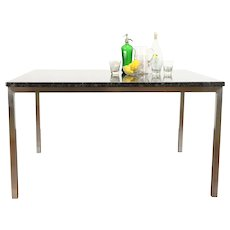 Granite Top Custom Dining or Patio Table, Stainless Steel Base #38042