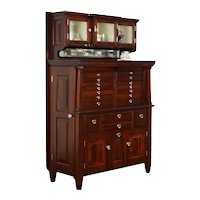Mahogany Dentist, Antique Dental, Jewelry or Collector Cabinet, American #38067