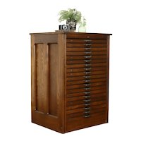 Ash Antique 20 Drawer Printer or Collector File, Map Chest, Hamilton  #38110