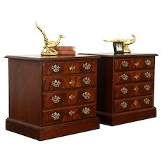 Pair of Traditional Vintage Mahogany Nightstands or End Tables, Drexel #38187