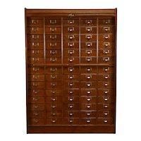 Victorian Antique Oak Rolltop 70 Drawer Office File Cabinet, Globe  #38329