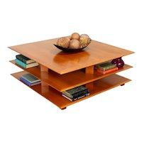 Midcentury Modern Design 3 Tier Cherry Coffee Table, David Lange #38333