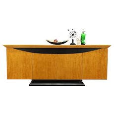 Satinwood Console, Sideboard Server, Credenza, Buffet or Bar Cabinet #38472