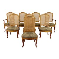 Set of 8 French Country Farmhouse Vintage Dining Chairs, Century  #38554