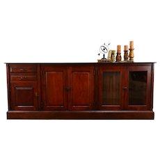 Birch 9' Antique Back Bar, Server, Sideboard Cabinet, TV Console #38596