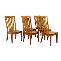 Set of 6 Arts & Crafts, Mission Oak, Vintage Dining Chairs, Shin Lee #38888
