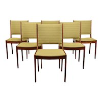 Set of 6 Midcentury Modern Vintage Teak Dining or Office Chairs, Dixie #38904