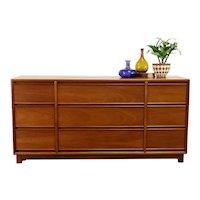 Midcentury Modern Vintage Mahogany 1960 Vintage Tall Dresser, Kroehler #38941