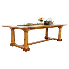"""Farmhouse Vintage 105"""" Pine Dining, Conference or Library Table #39034"""