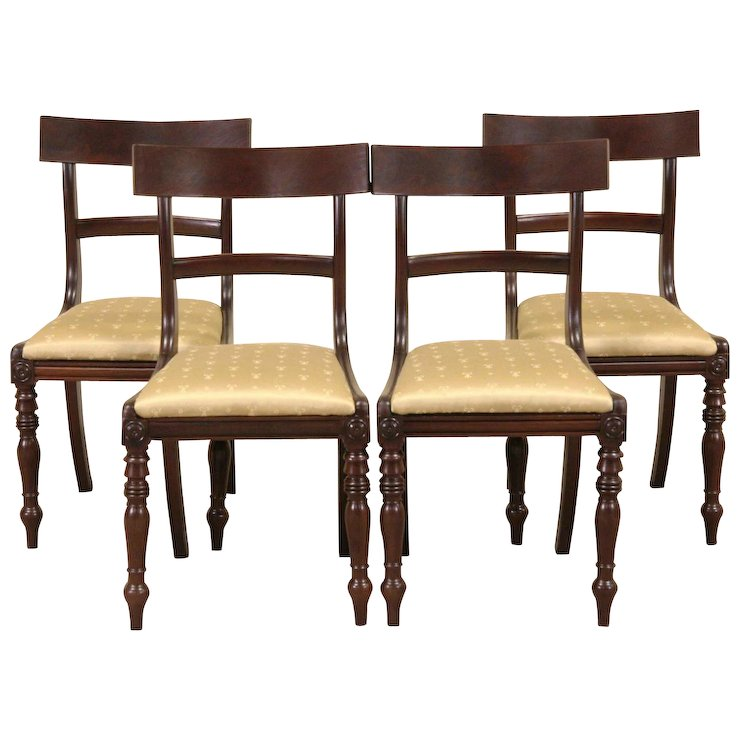Astonishing Set Of 4 Danish 1890S Antique Dining Or Game Table Chairs Evergreenethics Interior Chair Design Evergreenethicsorg