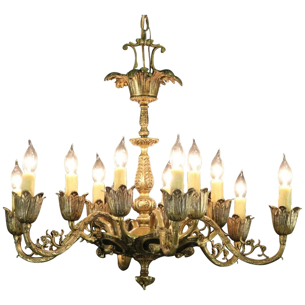 Patinated Brass 12 Candle Vintage Chandelier, Ram Head Motif. Click to  expand - Patinated Brass 12 Candle Vintage Chandelier, Ram Head Motif SOLD
