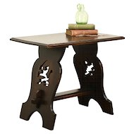 Oak 1930's Vintage Scandinavian Coffee Table, Lion Motif