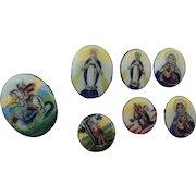 Enamelled Miniature Religious Pieces * Very Pretty