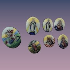 Enamelled Miniature Religious Pieces * Very Pretty