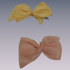 Two Vintage Satin Bows for Vogue Ginny