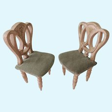 Pair Of Vintage Doll House Chairs