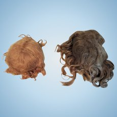 Two Lovely Vintage Mohair Doll Wigs