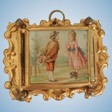 Lovely German Erhard and Sohne Ormolu Folding Doll House Frame