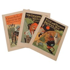 Three Darling Thornton Burgess Miniature Books with Harrison Cady