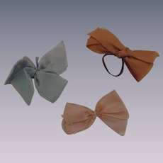 Three Vintage Satin Bows for Vogue Ginny and Others