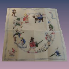Three Darling Unused Crepe Paper Nursery Rhyme Napkins