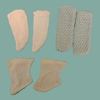 Three Pair Vintage Doll Socks
