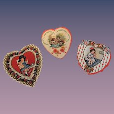 Three Little Valentines with Dolls