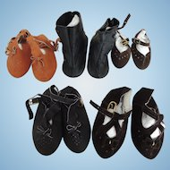 Five Pair of Nice Replacement Shoes for Larger Dolls
