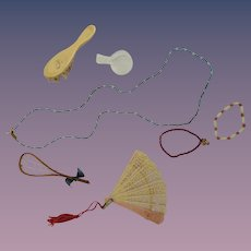 Accessories Jewelry Fan and More for Doll's Trousseau