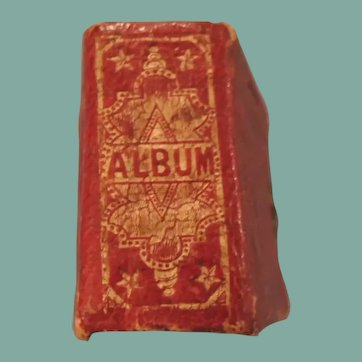 Lovely Miniature Red Fairy / Gem Album With Extra Tintypes