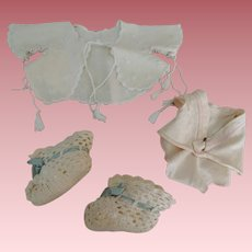 Darling Baby Doll Cape Crochet Booties and Undies