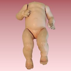 German Composition Five Piece Bent Limb Baby Doll Body