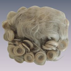 Lovely Old Blond Mohair Doll Wig