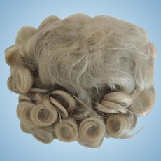 Lovely Original Old Blond Mohair Doll Wig with Pate