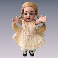 All Bisque Character Doll with Glass Eyes and Star Fish Hands