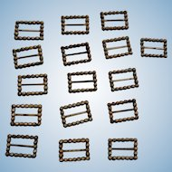Tiny Steel Cut Buckles for Doll Shoes or Costume Accents