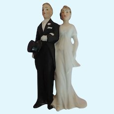 Lovely German Bisque Bride and Groom Cake Topper