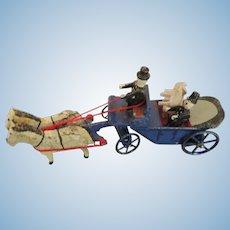 German Erzgebirge Wedding Cart