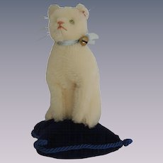 Steiff LE White Mohair Club Cat Pin Cushion