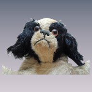 """Early Punch-Dog Glove """"Charles"""" Puppet with Button"""