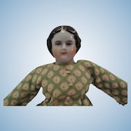 Charming Miniature China Head Doll with Leather Boots