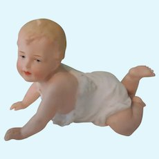 Darling 4.5 Inch German All Bisque Heubach Crawling Baby