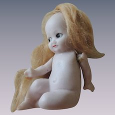 Tiny German All Bisque Nude Novelty Doll