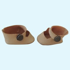 Sweet Oil Cloth Side Snap Doll Shoes for Smaller Doll