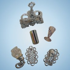 Doll House Miniature Soft Metal & Glass Pieces